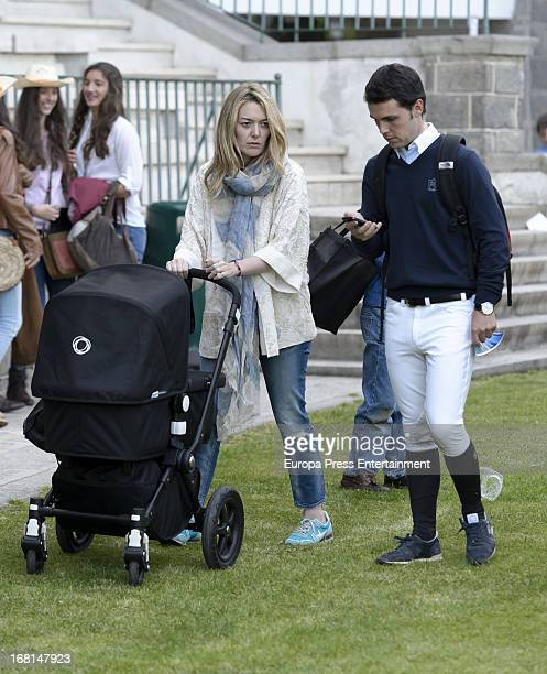 Marta Ortega and Sergio Alvarez attend the CSI 5 de Madrid Longines Global Champions Tour 2013 on May 5 2013 in Madrid Spain