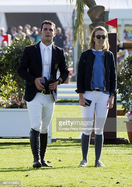 Marta Ortega and Sergio Alvarez attend the XXI Sunshine Tour Horse Race at La Dehesa de Montenmedio Golf and Country Club on March 01 2015 in Vejer...