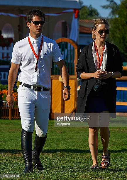 Marta Ortega and Sergio Alvarez Moya attend International Jumping CSIO 5 Gijon at Complejo Deportivo de Las Mestas on August 31 2013 in Gijon Spain