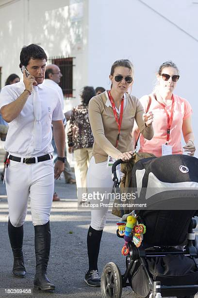 OVIEDO SPAIN OVIEDO SPAIN Marta Ortega and Sergio Alvarez Moya attend International Jumping CSIO 5 Gijon on September 1 2013 in Oviedo Spain