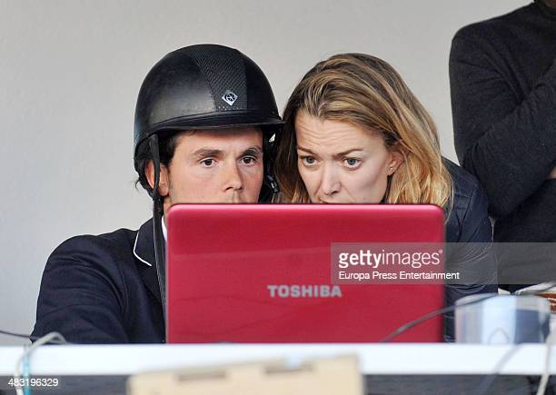 Marta Ortega and Servio Alvarez attend the 53nd Spanish Championship Horse Jumping competition at Real Club de Polo on April 5 2014 in Barcelona Spain