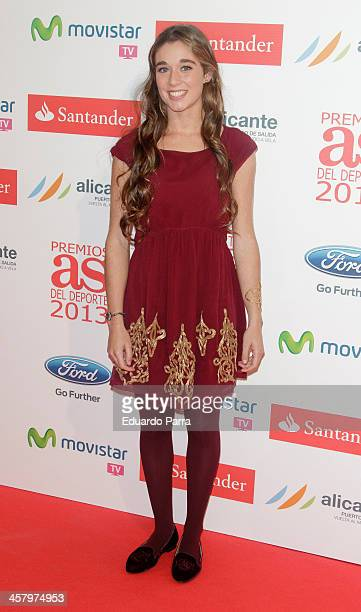 Marta Ortega attends 'As del deporte' awards 2013 photocall at Palace hotel on December 19 2013 in Madrid Spain