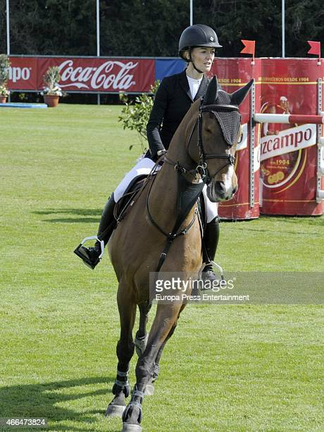 Marta Ortega attends the XXI Sunshine Tour Horse Race at La Dehesa de Montenmedio Golf and Country Club on February 28 2015 in Vejer de la Frontera...