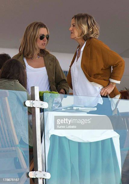 Marta Ortega daughter of Zara's owner Amancio Ortega and Flor Perez Marcote wofe of Zara's owner Amancio Ortega attend CSI Casas Novas Horse Jumping...