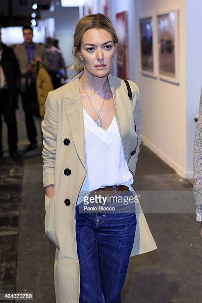 Marta Ortega is seen at 'ARCO' fair on February 25 2015 in Madrid Spain