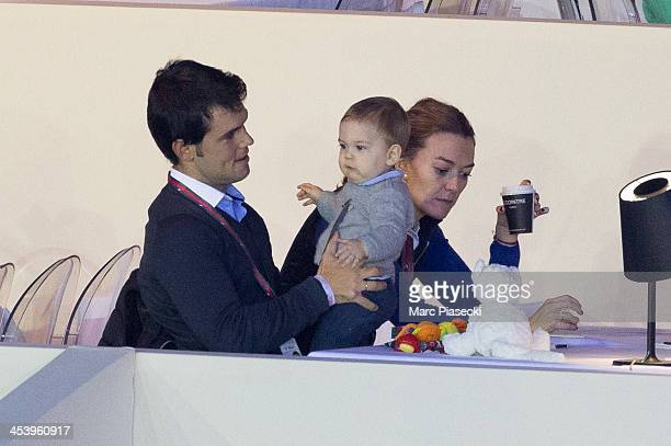 Marta Ortega Perez and Sergio Alvarez Moya attend the 'Gucci Paris Masters 2013' at Paris Nord Villepinte on December 6 2013 in Paris France