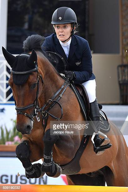 Marta Ortega Perez competes at International Longines Global Champion Tour Day 2 on June 10 2016 in Cannes France