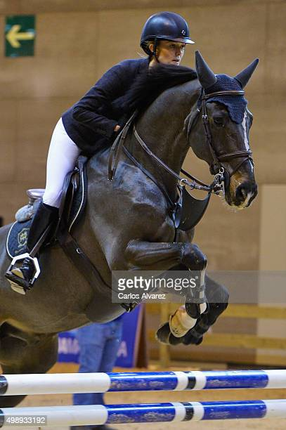Marta Ortega Perez competes during the Madrid Horse Week 2015 at IFEMA on November 27 2015 in Madrid Spain