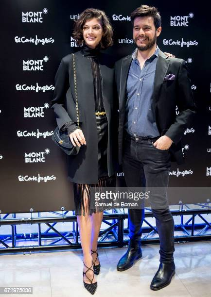 Marta Ortiz and Matin Barreiro attends the Montblanc Presents Charity Collection For UNICEF on April 25 2017 in Madrid Spain