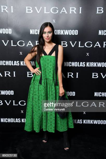 Marta Pozzan attends a party celebrating 'Serpenti Forever' By Nicholas Kirkwood for Bvlgari on September 20 2017 in Milan Italy