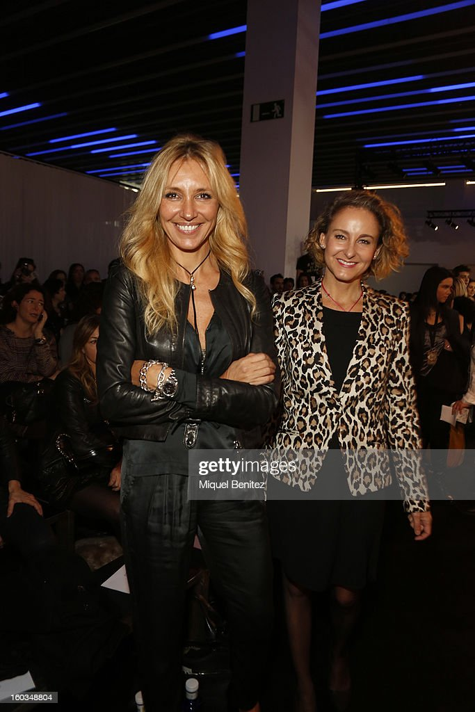 Marta Robles and Carla Royo-Vilanova attend the TCN fashion show as part of the 080 Barcelona Fashion Week Autumn/Winter 2013-2014 on January 29, 2013 in Barcelona, Spain.