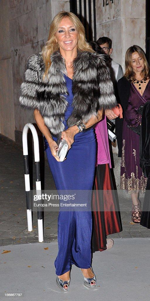 Marta Robles arrives at Marie Claire Prix de la Moda Awards 2012 on November 22, 2012 in Madrid, Spain.