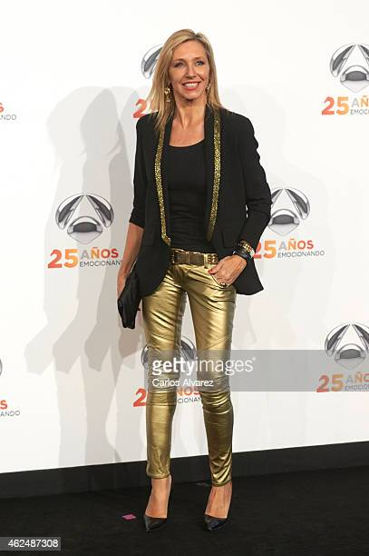 Marta Robles attends Antena 3 TV Channel 25th anniversary party at the Palacio de Cibeles on January 29 2015 in Madrid Spain