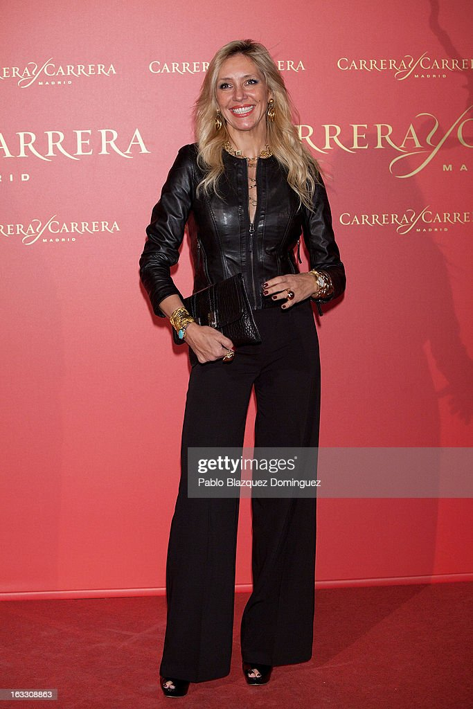 Marta Robles attends 'Maja de los Goya Awards 2012' at Fernan Nunez Palace on March 7, 2013 in Madrid, Spain.