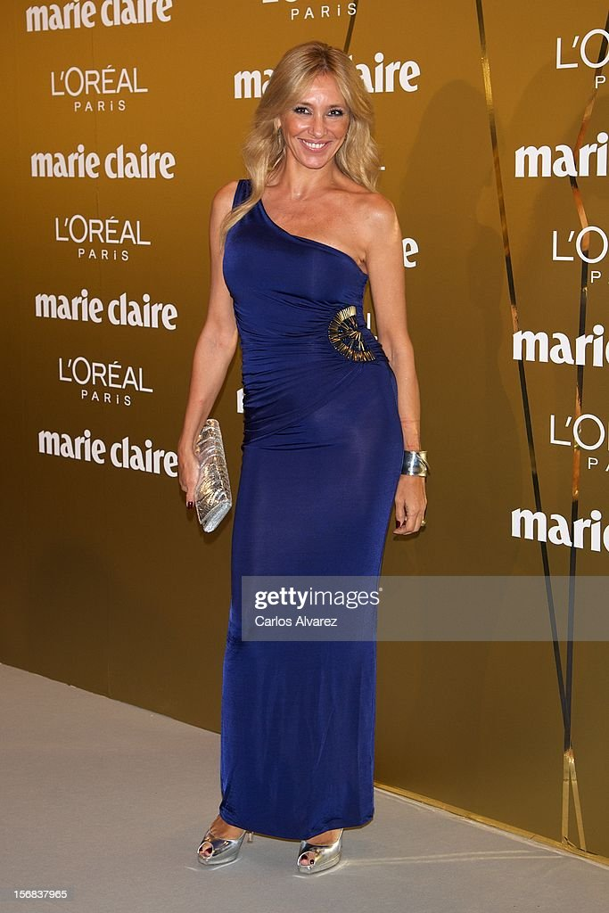 Marta Robles attends Marie Claire Prix de la Moda Awards 2012 at the French Embassy on November 22, 2012 in Madrid, Spain.