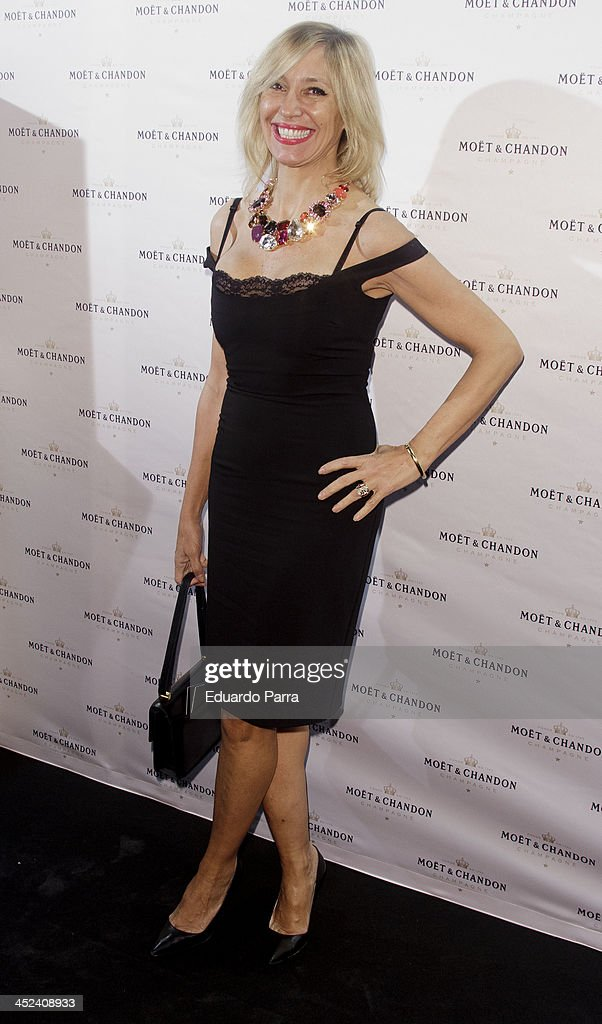 Marta Robles attends 'Moet Golden Glass' party photocall at Le Boutique on November 28, 2013 in Madrid, Spain.