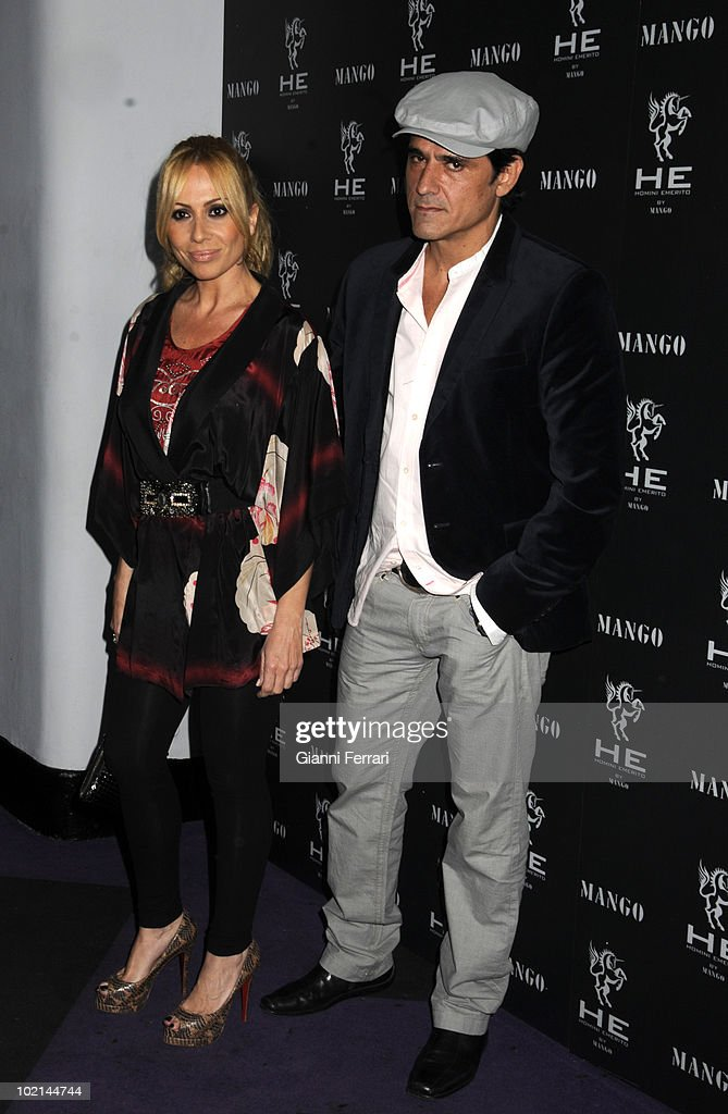 Marta Sanchez and her husband in the inauguration of 'Mango', a shop for men, 2nd April 2009, 'Pacha', Madrid, Spain.
