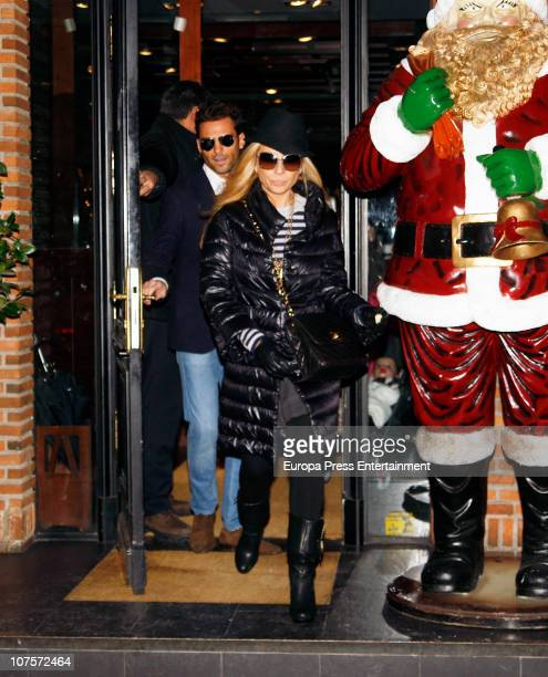 Marta Sanchez and Hugo Castejon are seen on December 13 2010 in Madrid Spain