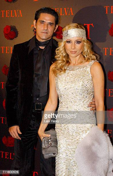 Marta Sanchez and husband during 2004 TELVA Magazine Fashion Awards at Alcala Theatre in Madrid Spain