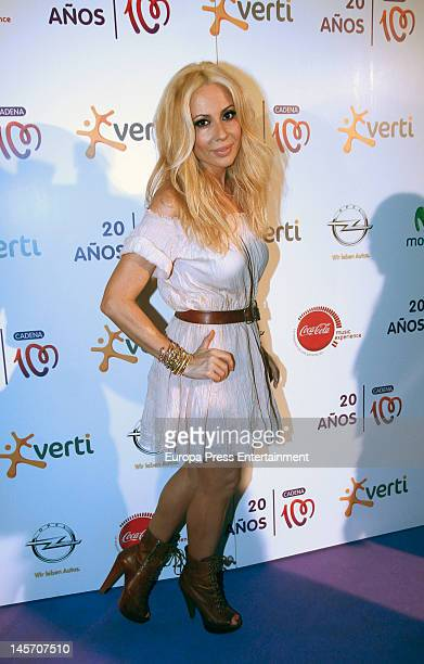 Marta Sanchez attends Cadena 100 Radio 20th anniversary concert at Vicente Calderon Stadium on June 2 2012 in Madrid Spain