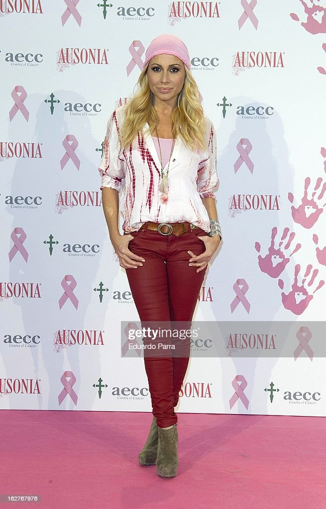 Marta Sanchez attends 'Juntos Somos Mas Fuertes' campaign photocall against breast cancer on February 26, 2013 in Madrid, Spain.