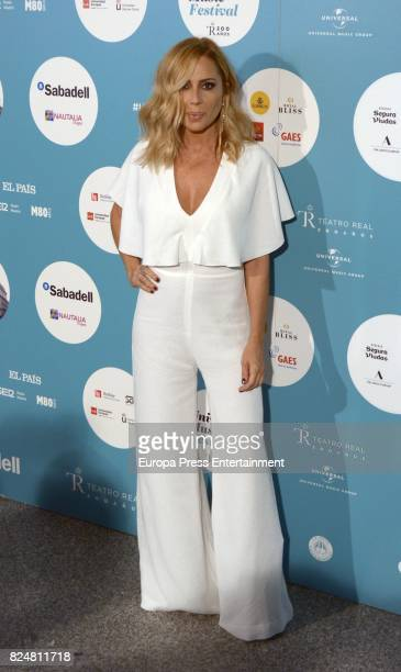 Marta Sanchez attends Rosario concert at the Royal Theatre on July 28 2017 in Madrid Spain