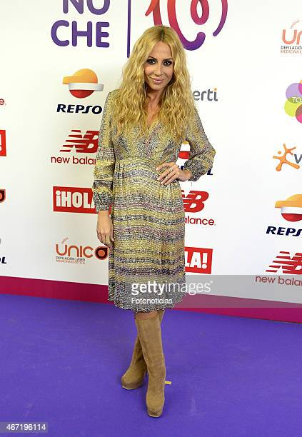 Marta Sanchez attends the 'Cadena 100 Por Etiopia' concert photocall at the Barclaycard Center on March 21 2015 in Madrid Spain