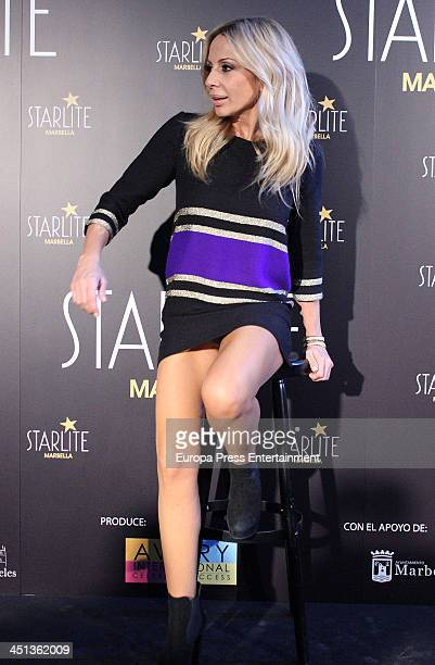 Marta Sanchez attends the presentation of Marbella Starlite Festival on November 22 2013 in Madrid Spain