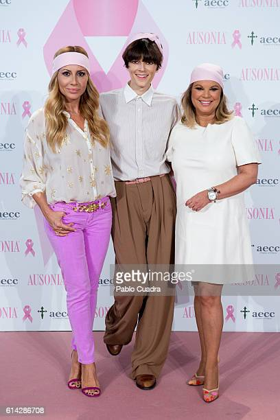 Marta Sanchez Bimba Bose and Terelu Campos present the 'TuApoyoCuenta' campaign against breast cancer on October 13 2016 in Madrid Spain