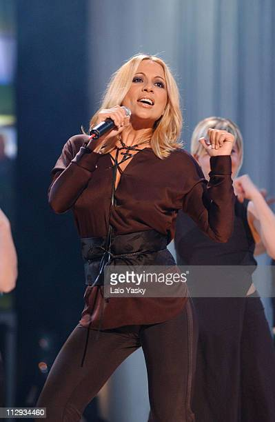 Marta Sanchez during Monica Cruz Joins Latin Pop Stars for Taping of Concert 'Un Paso Adelante' at Antena 3 TV Studios in Madrid Spain