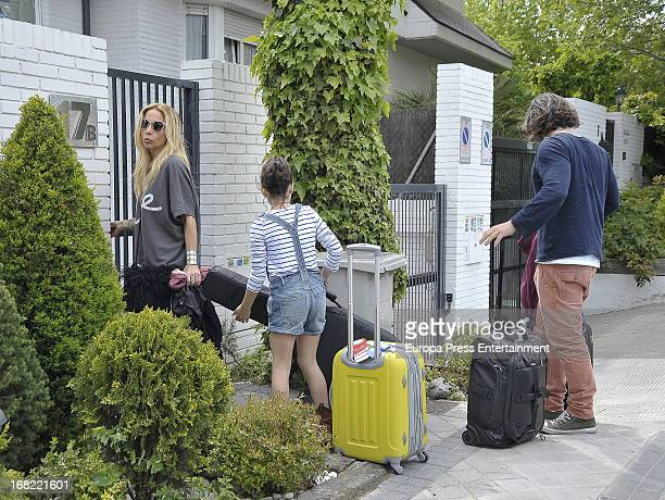 Marta Sanchez her boyfriend Dani Teran and her daughter Paula Cabanas are seen on May 5 2013 in Madrid Spain