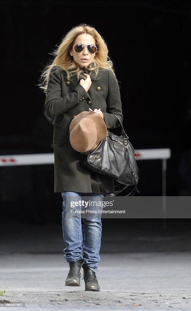 Marta Sanchez Sighting In Madrid - April 08, 2013