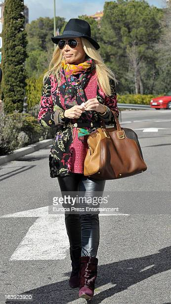 Marta Sanchez is seen on February 13 2013 in Madrid Spain