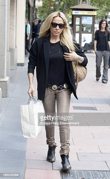Marta Sanchez is seen on October 16 2013 in Madrid Spain