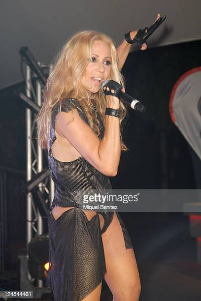 Marta Sanchez performs at the Bacardi Together Party 2011 on September 10 2011 in Barcelona Spain
