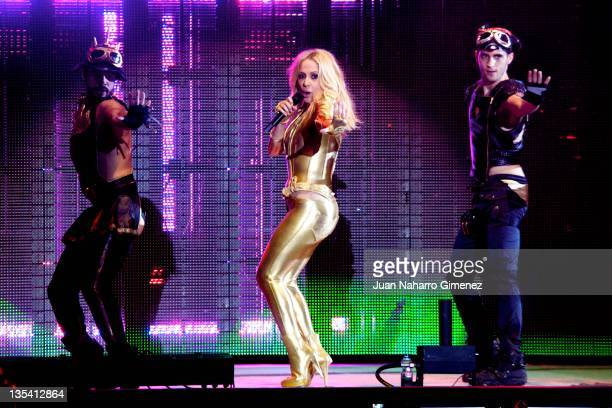 Marta Sanchez performs during '40 Principales Awards' 2011 at Palacio de los Deportes on December 9 2011 in Madrid Spain