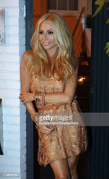 Marta Sanchez poses during her 44th birthday party on May 8 2011 in Madrid Spain