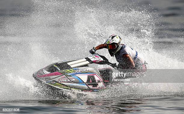 Marta Sorrentino of Italy practice ahead of the Ski Ladies GP1 during the Aquabike Class Pro Circuit World Championships Grand Prix of Sharjah at...