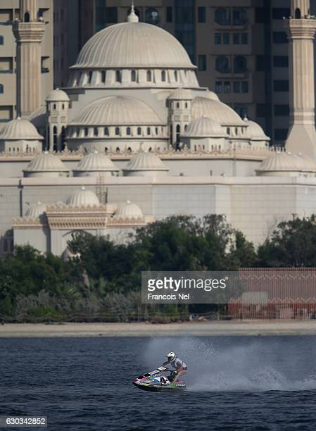 Marta Sorrentino of Italy race in the Ski Ladies GP1 final during the Aquabike Class Pro Circuit World Championships Grand Prix of Sharjah at Khalid...