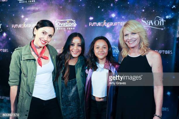 Marta Stattmiller Tamalin Srisook Breanna Yde and Wendy Winks attend the 'Future Disruptors' Premiere at The Comedy Store on June 25 2017 in Los...