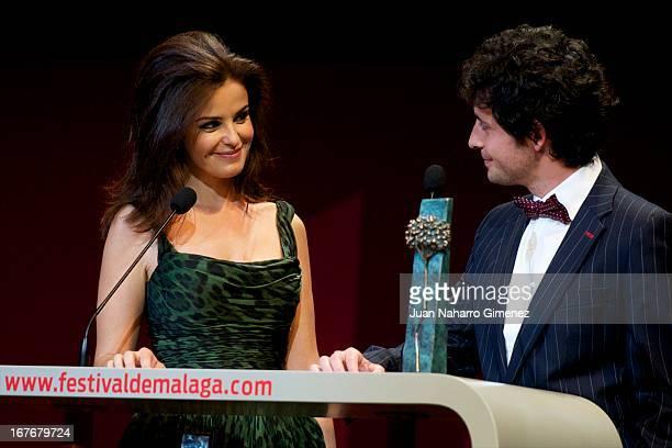 Marta Torne and Javier Pereira attend 16 Malaga Film Festival ceremony at Teatro Cervantes on April 27 2013 in Malaga Spain