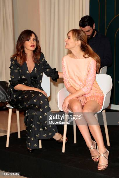 Marta Torne and Marta Hazas attend the Velvet Coleccion a television series presentation held at the Majestic Hotel on April 10 2017 in Barcelona...