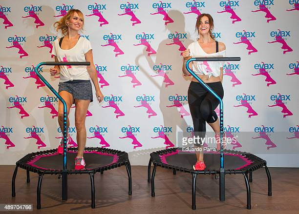 Marta Torne and Patricia Conde attend Evax Liberty photocall at Gymage Lounge on September 23 2015 in Madrid Spain