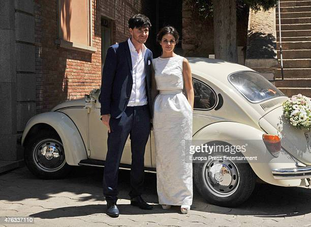 Marta Torne and Roger Gual attend their wedding on June 5 2015 in Sant Just Desvern Spain