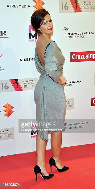 Marta Torne attends Malaga Film Festival party photocall at MOMA 56 Disco on April 9 2013 in Malaga Spain