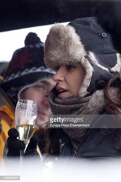 Marta Torne attends Moet Lounge In Baqueira ski resort on December 8 2012 in Baqueira Beret Spain