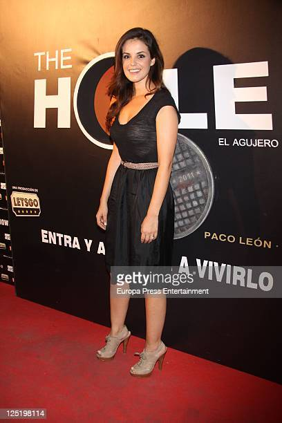Marta Torne attends 'The Hole' premiere at Haagen Dasz Theatre on September 15 2011 in Madrid Spain