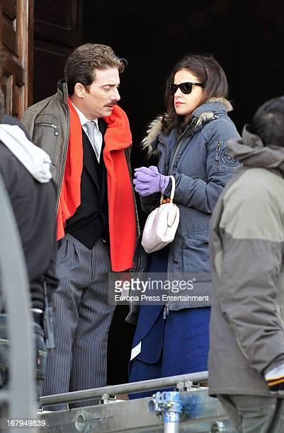 Marta Torne is seen on the set filming 'Gran Reserva' on April 9 2013 in Madrid Spain
