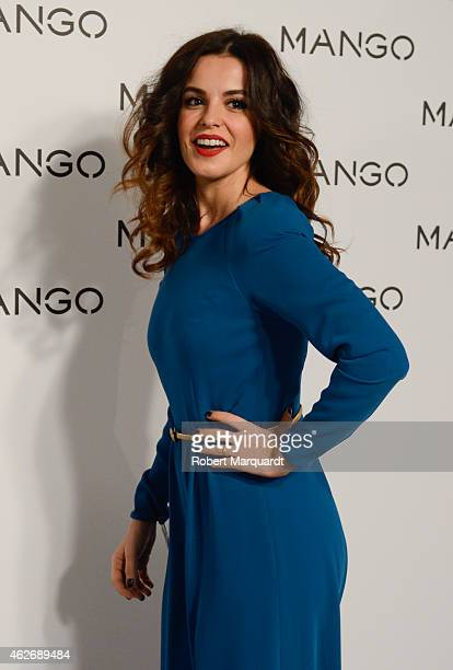 Marta Torne poses during a photocall for the Mango fashion show at '080 Barcelona Fashion Week 2015 Fall/Winter collection' on February 2 2015 in...