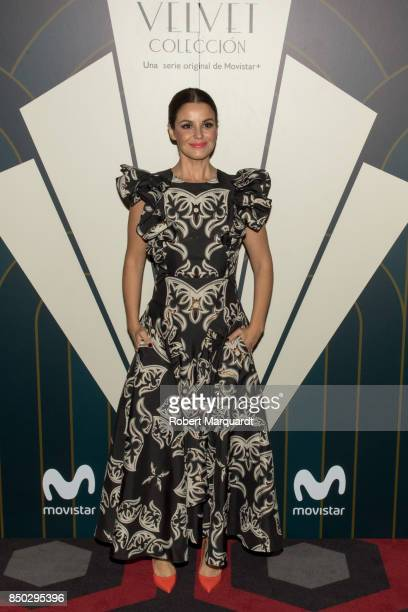 Marta Torne poses during a photocall for the premiere of 'Velvet' at the Sala Phenomena on September 20 2017 in Barcelona Spain